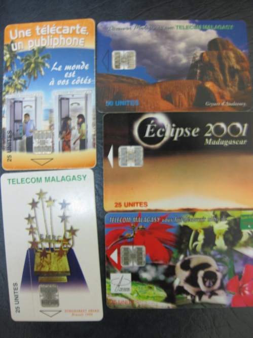 phone cards from Madagascar